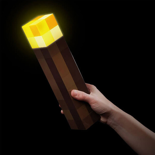 Original Light Up Minecraft Torch LED Minecraft Lamp Hand Held Or Wall Mount