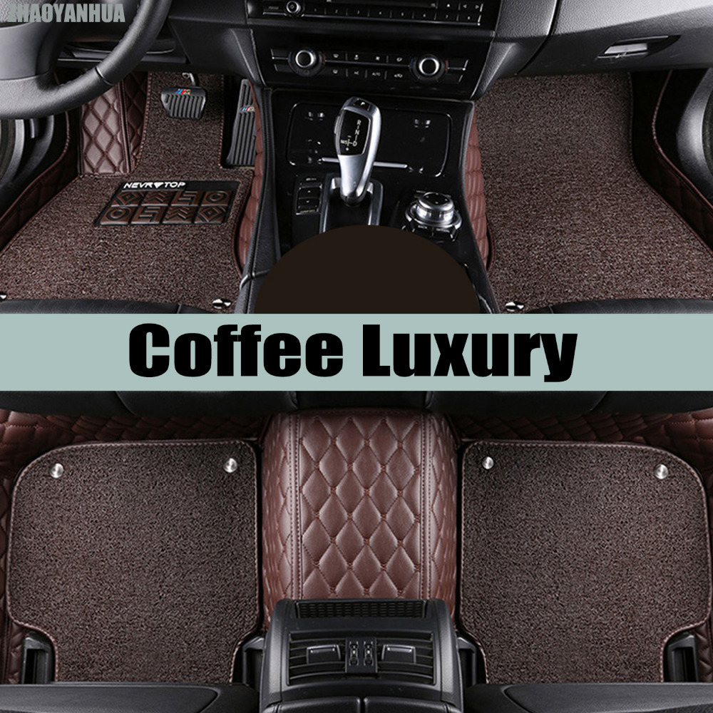 ZHAOYANHUA Car floor mats for BMW 3 series E90 E91 E92 E93 316i 318i 320i 323i 325i 328i 330i 335i 320d 325D 5D carpet liners car interior accessories leather floor mats carpets pad for bmw 3 series f30 2013 2014 2015 2016