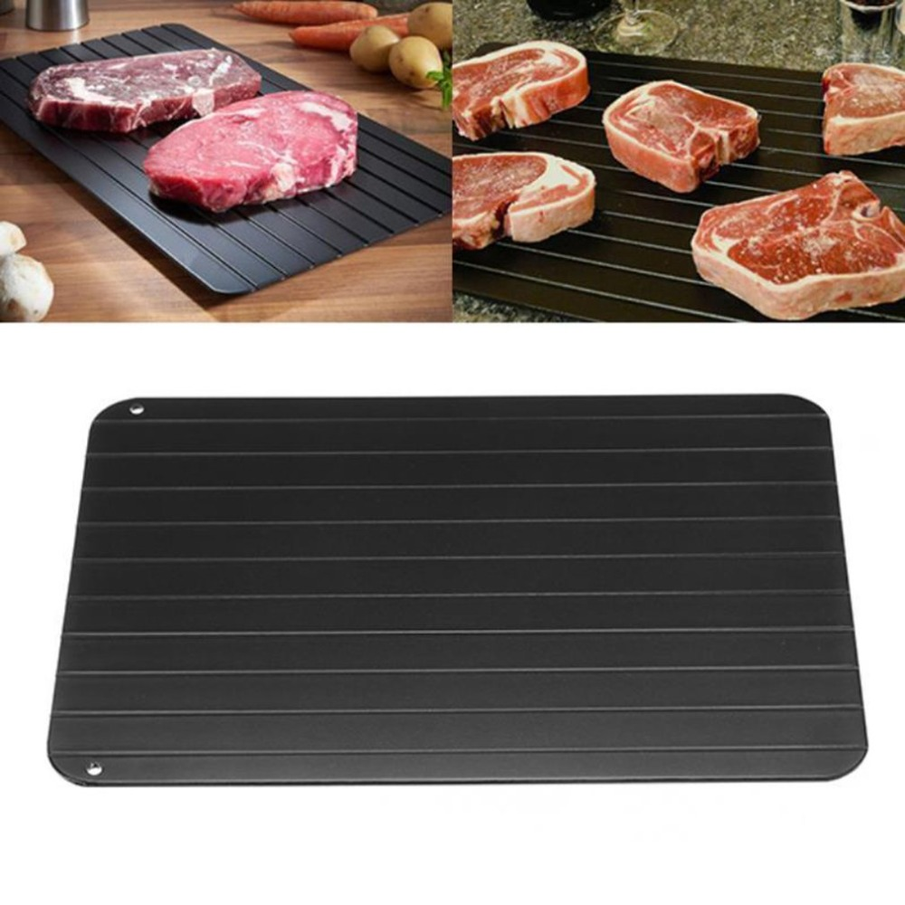 Defrosting Tray Thaw Rapid Heating Tray Fast For Freezing Meat FoodNo Electricity Non stick No Chemicals Safety Kitchen Tool|Defrosting Trays|Home & Garden - title=