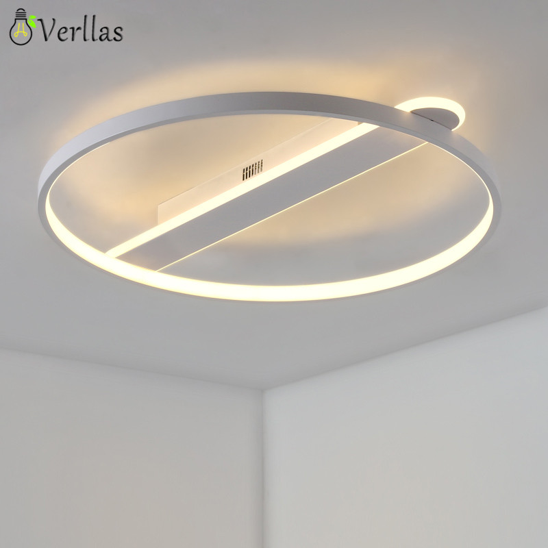 White Black Circle Modern LED Ceiling Light for Living room Bedroom home decorative Lighting fixture Luminarine LED Ceiling Lamp