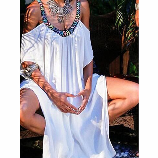 39b134d5e83 Best Offers New Handmade Beach Cover Up 2018 Bathing Suit Cover Ups Long  White Beach Dresses