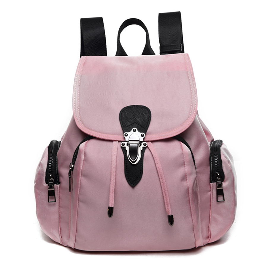 Nylon Backpack Women Lager Capacity Teenager School Bags Casual Travel Rucksack Girls Students Mochila Bolsa 2018 Summer Fashion