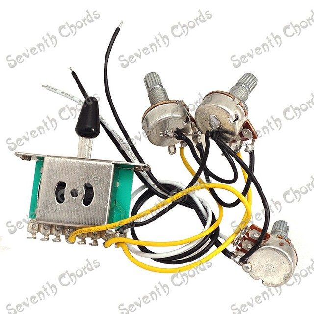 A Set Guitar Wiring Harness Prewired 1 Volumes 2 Tones 3 Pcs 500k