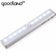 Goodland LED Night Light IR Infrared Motion Sensor Night Light 10 LEDs