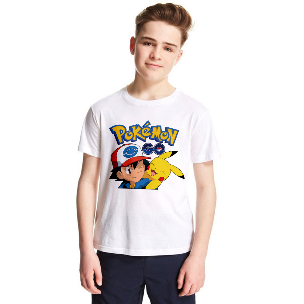 Game Pokemon Go Kids T Shirt Boys Girls Unisex Pikachu Summer Tops Fashion Children Streetwear Casual Clothes Toddler T-shirt