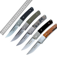 Ganzo G7361 Folding Knife 440C Blade G10 / Wood Handle Outdoor Camping survival Diving Pocket Knife Super Military Top Knifes