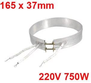 Edelstahl 165mm x 37mm 750 Watt 220 V Mica Isolierung Heizung Band