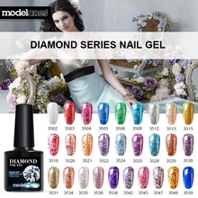 Modelones Professional UV Gelpolish Diamond Glitter UV Nail Polish Nail Art Manicure UV Nail Gel Polish Soak Off Sequins Gel