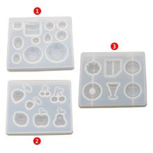 Creative DIY Crystal Epoxy Mold Fruit Strawberry Cherry Earrings Handmade Making Pendant Dessert Mirror Mould