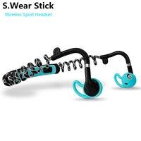 S Wear Stick Bluetooth Wireless Sport Headset Stereo Bass Smart Phone Music Calls Headphone With Mic