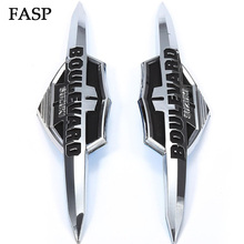 2 PCS FASP Motorcycle Gas Tank Emblem Badge Chrome For Suzuki Boulevard VL400 800 C50 M50 C90 M90 M109R