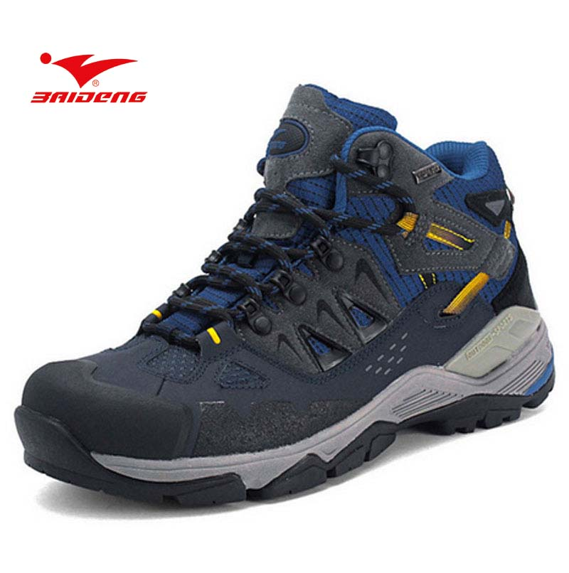 BAIDENG outdoors sports climbing men's Water-resistant breathable shoes hiking shoes men trekking hiking shoes boots