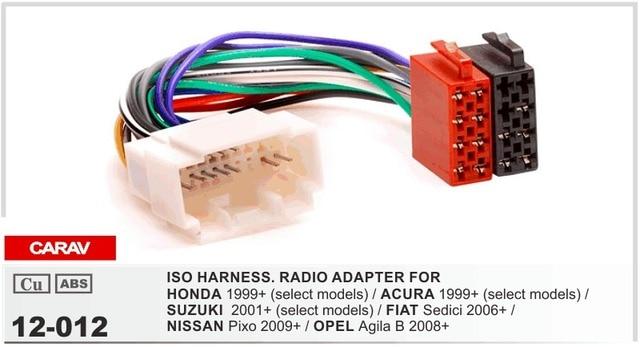 carav 12 012 iso radio adapter for honda 1999 select models