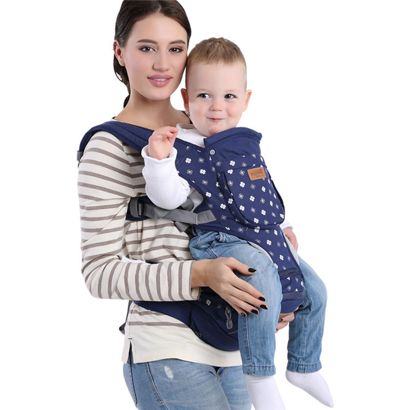mambobaby кто быстрее Mambobaby Print Mult-functional Infant Backpacks Cotton Four Colors Carrier For Toddler Baby