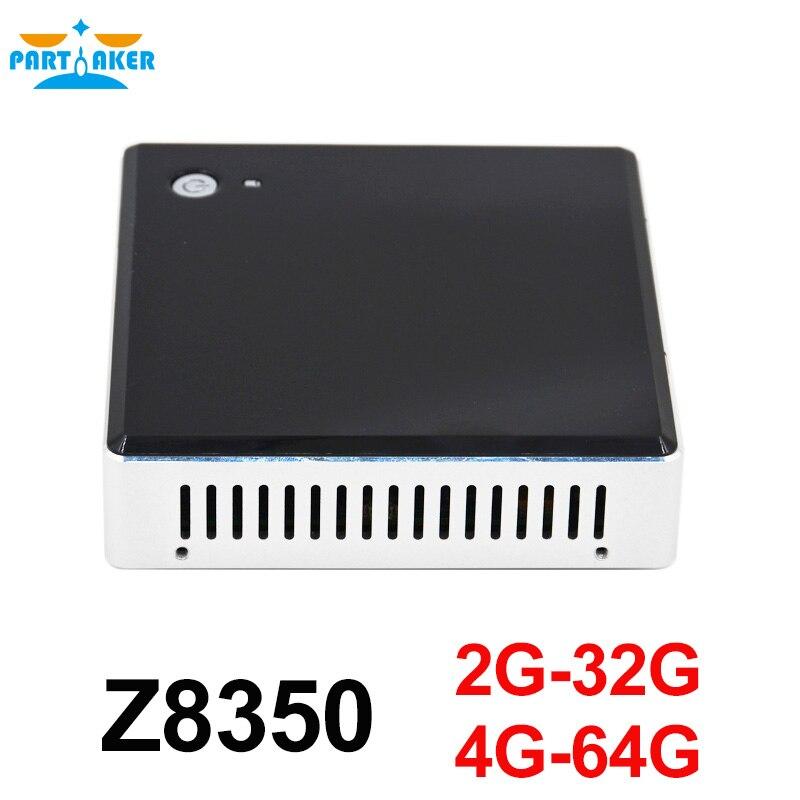 US $104 5 5% OFF Partaker Intel Mini PC Windows 10 Ubuntu Intel Z8350 Quad  Core 2G 4GB RAM Mini PC HDMI Business Household Mini Computer PC Micro-in