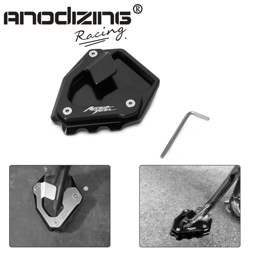 CNC Kickstand Foot Plate Side Stand Extension Pad Enlarge Extension Support Plate For Honda CRF1000L CRF 1000L Africa Twin 16-17CNC Kickstand Foot Plate Side Stand Extension Pad Enlarge Extension Support Plate For Honda CRF1000L CRF 1000L Africa Twin 16-17
