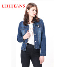 Leiji oversized denim cardigan jacket women jackkets coats womens Cotton long sleeve jeans S 6XL