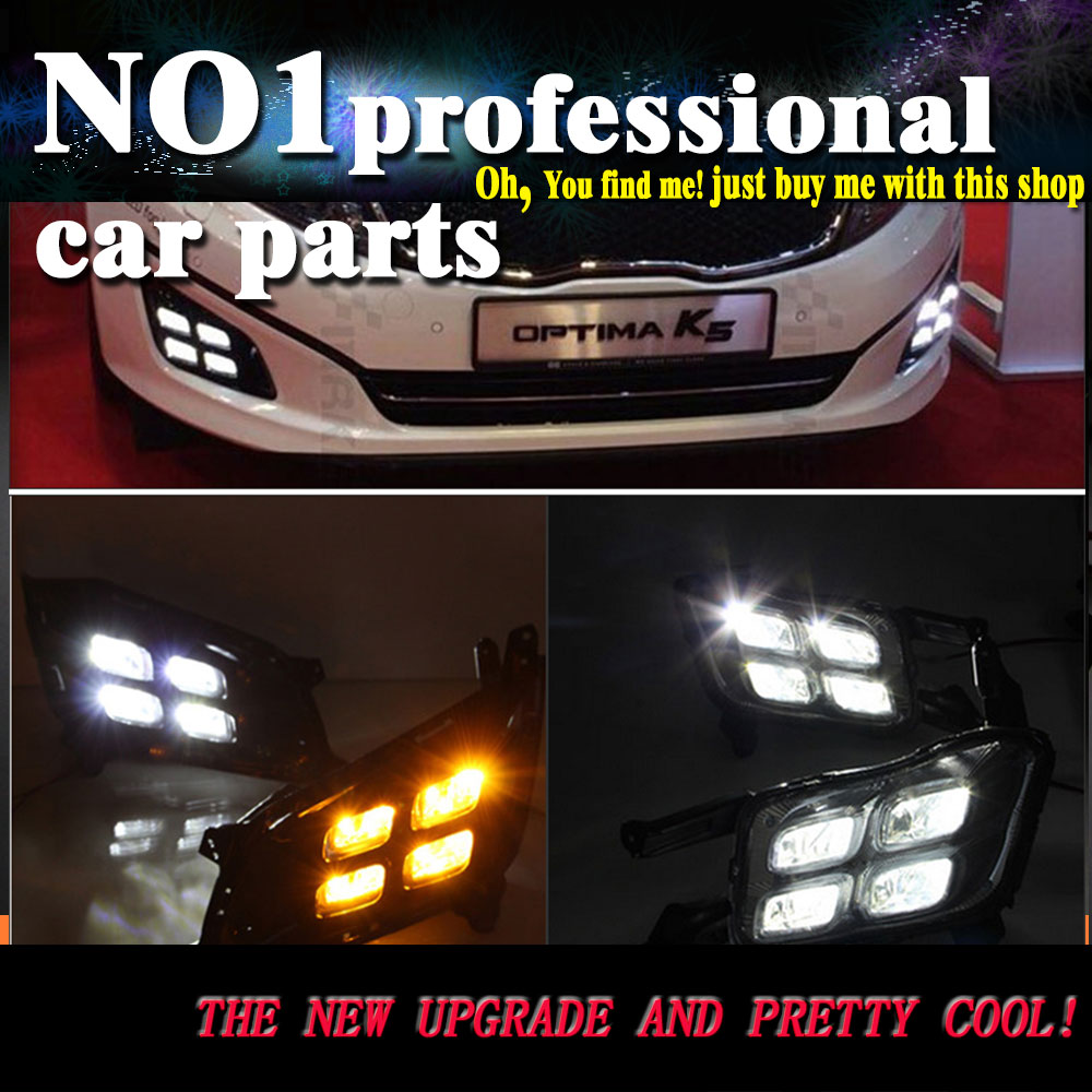 Car Styling Lampever Auto Car Daytime Running Lights Driving Fog Lamp White LED DRL Light For KIA KX5 Optima 2016 2017 2x h3 9 led smd car auto xenon white fog driving head light lamp bulb 6500k car styling lights lamp automoblies