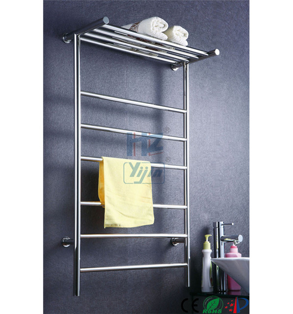T Shaped Stainless Steel 304 Electric Heated Towel Rail Bathroom Wall Mounted Warmer Hz