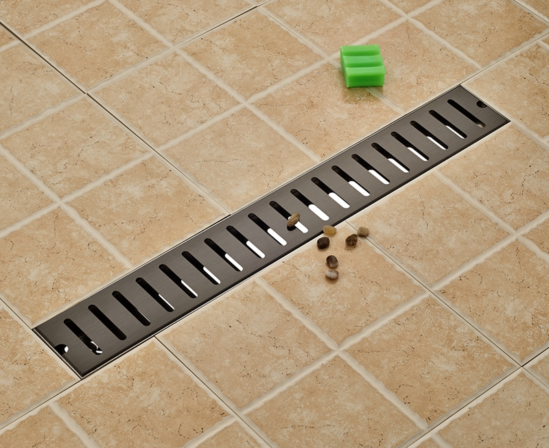 Oil Rubbed Bronze 70cm Length Floor Drain Stainless Steel Shower Grate Waste modern 90 10 cm oil rubbed bronze style deodorization grate waste floor drain floor mounted
