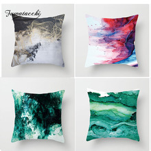 Fuwatacchi Ink Painting Cushion Covers Blooming Splashing Pillow Cover Home Decorative Pillowcase for Car Sofa Seat Bedroom