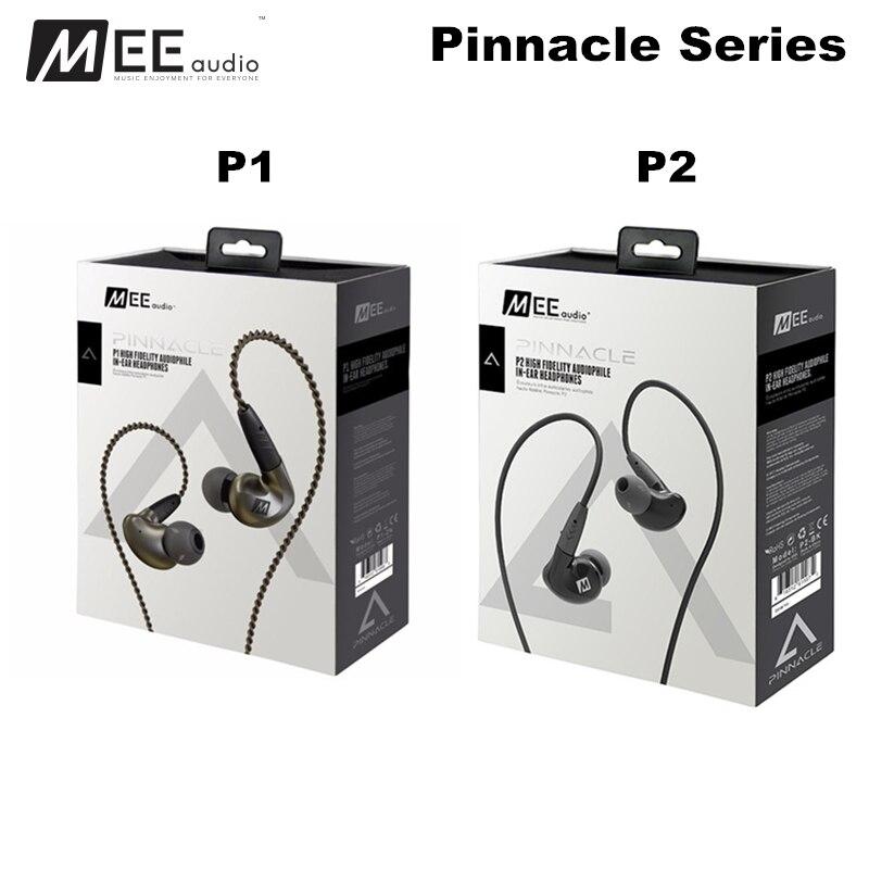 MEE Audio MEElectronics Pinnacle P1 P2 Audiophile Bass HIFI DJ Studio Monitor Music In-Ear Earphones w/ Detachable Cable fashion professional in ear earphones light blue black 3 5mm plug 120cm cable
