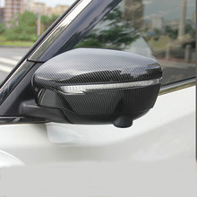 Carbon ABS Chrome Side Rearview Mirror Cover Cap Accessories For 2014 15-18 Serena C27 Murano Z52 QASHQAI J11 Rogue X-Trail T32