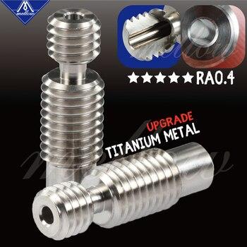 Mellow All-Metal NF V6 titanium alloy heat break TC4(Grade5) 3D Printer nozzle throat for 1.75mm/3.00 HOTEND E3D V6 heater block mellow all metal nf crazy hotend v6 copper nozzle for ender 3 cr10 prusa i3 mk3s alfawise titan bmg extruder 3d printer parts