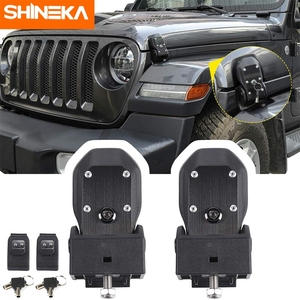 SHINEKA Car Hood Latches Hood Lock Catch Kit Anti-Theft Accessorie for Jeep Wrangler JL Sports Sahara Freedom Rubicon 2018-2020