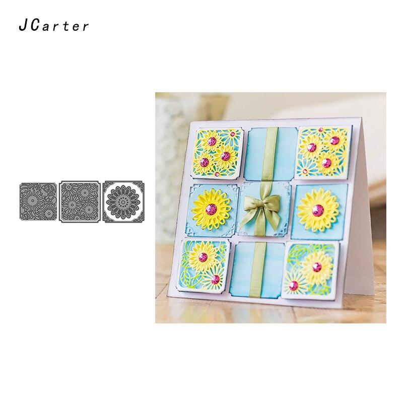 JC 2019 New Arrivals Flowers Cards Metal Cutting Dies Stencils for Scrapbooking DIY Embossing Folder Paper Handmade Album Crafts in Cutting Dies from Home Garden