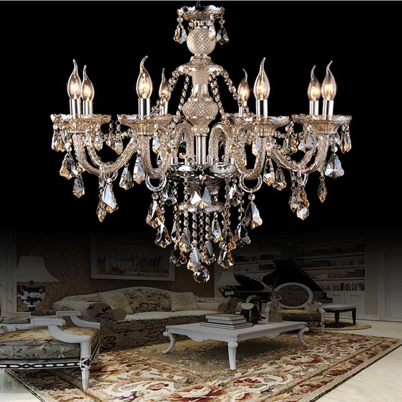 Luxury Chandelier Lustre Crystal Chandelier 6/8/10/12/15/18 Arms Optional Lustres De Cristal Chandelier LED Without Lampshade