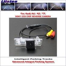 Liislee HD CCD SONY Telecamera Posteriore Per Audi Audi A4/A5/TT Intelligente Tracce di Parcheggio Reverse/NTSC RCA AUX 580 Linee TV