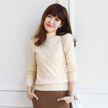 QIUSIDUN Cashmere Sweater Turtleneck Winter Pullover Tops Long Sleeve Women Jumpers 2017 Solid Knitted Sweaters And Pullovers