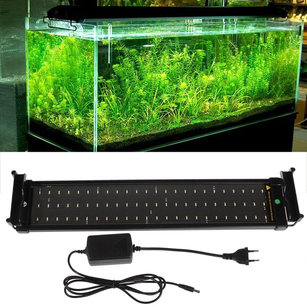 50-70 cm LED pour aquarium éclairage aquarium lumière lampe 15 W 60 blanc et 12 bleu LED s Fishbowl lumières avec supports extensibles