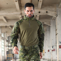 Trueguard 2016 Tactical Response Uniforms 1/4 Zip Combat shirt  Multicam Tropic 65/35 Poly Cotton Ripstop Combat Shirt MTP
