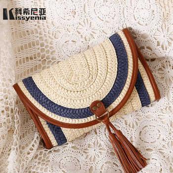 Kissyenia 2018 INS Hot Handmade Bali Beach Bags Women Summer Island Straw Knitted Handbag Crossbody Wicker Bag Woven Flap KS1116 - DISCOUNT ITEM  18% OFF All Category