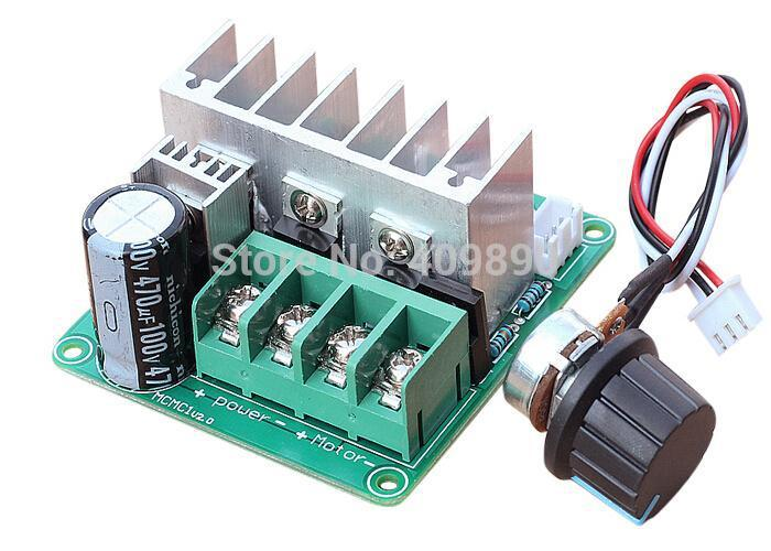 Dc Motor Pulse Width Modulation Pwm Dc Motor Speed Control Governor Switch 9v-60v 20a