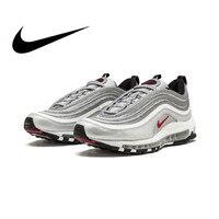 Оригинальная продукция Nike Air Max 97 OG QS 2017 выпуск спортивная обувь для мужчин Официальные дышащие, для активного отдыха и спорта обувь новое по