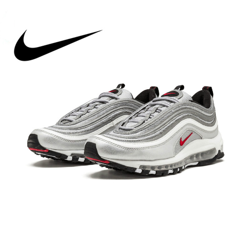 Original Nike Air Max 97 OG QS 2017 RELEASE Running Shoes for Men Official  Genuine Breathable Outdoor Sports Shoes New ArrivalOriginal Nike Air Max 97 OG QS 2017 RELEASE Running Shoes for Men Official  Genuine Breathable Outdoor Sports Shoes New Arrival