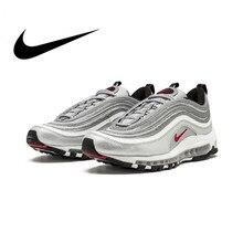 Оригинальная продукция Nike Air Max 97 OG QS 2017 выпуск спортивная обувь для мужчин Официальные дышащие, для активного отдыха и спорта обувь новое поступление