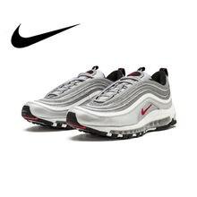 05463268852 Original Nike Air Max 97 OG QS 2017 libération chaussures de course pour  hommes officiel véritable respirant chaussures de sport.