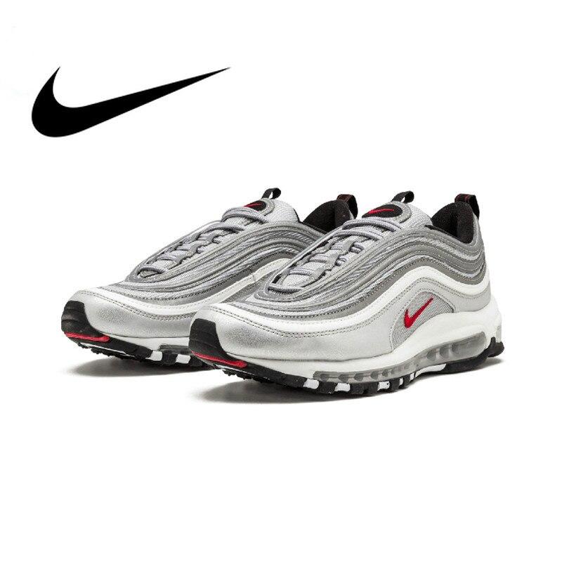 Original Nike Air Max 97 OG QS 2017 libération chaussures de course pour hommes officiel véritable respirant chaussures de sport de plein Air nouveauté