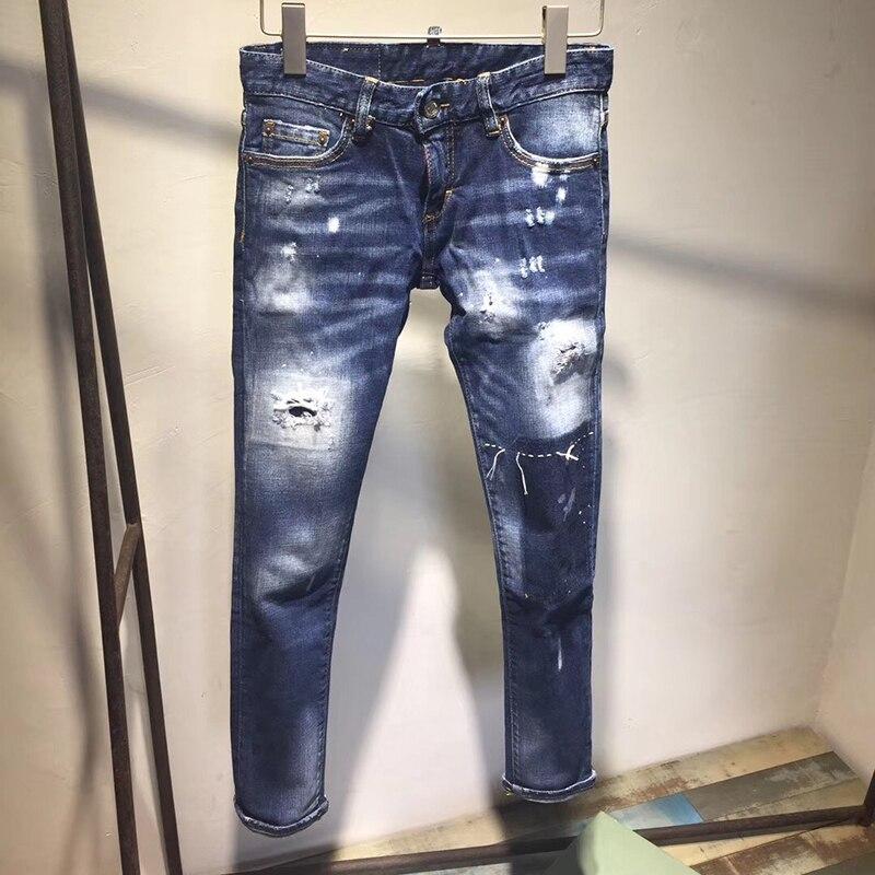 Qualité Livraison Casual Nouvelles Gratuite rise 2018 Mid Femmes Automne Grande Haute De Bleu Taille Pantalon Hot Jeans Dames PqZxzfq