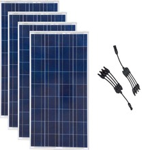 Solar Panel 12v 150w 4 Pcs Home System 600w in 1 Connector Battery Charger Motorhome Caravan Car Camp Rv Off Grid