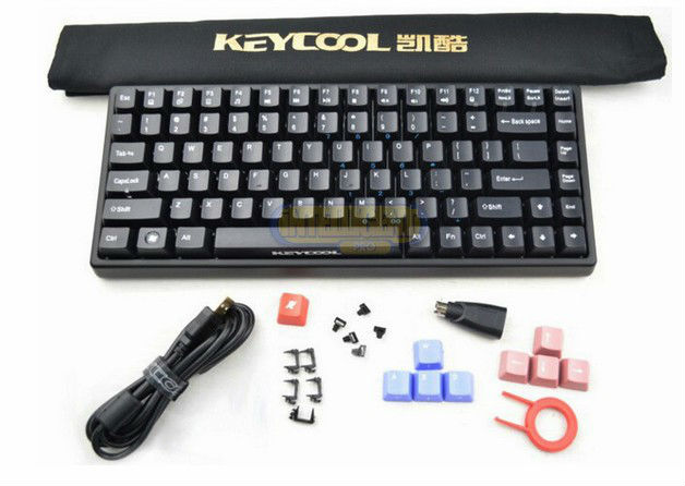 keycool 84 key led backlit for option cherry mx brown switch