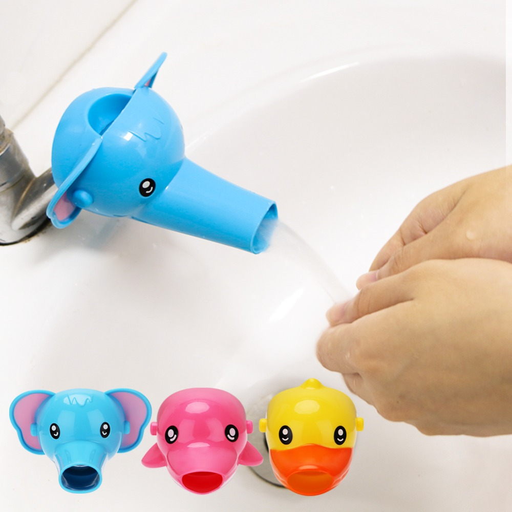 1Pcs Cute Animal Duck Elephant Dolphin Shape Water Faucet Extension Water Tap Extender For Kids Children Hand Washing Bathroom