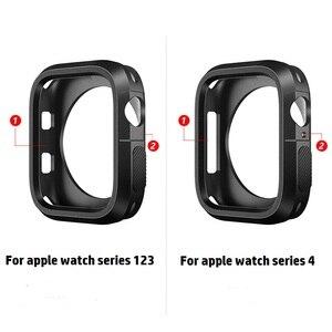Image 5 - Модный Двухцветный силиконовый чехол для Apple Watch Series 1/2/3, чехол с рамкой, полная защита 42 мм, 38 мм, для i Watch 4, чехол 4