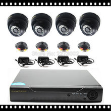 HKES 4CH AHD DVR Package with Out of doors CCTV Digicam 2MP Video Surveillance System EU/US/UK/AU Plug Elective