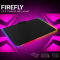 Firefly difícil gaming mouse mat, USB Jack, iluminação Mousepad, firefly mousepad, brand new in box