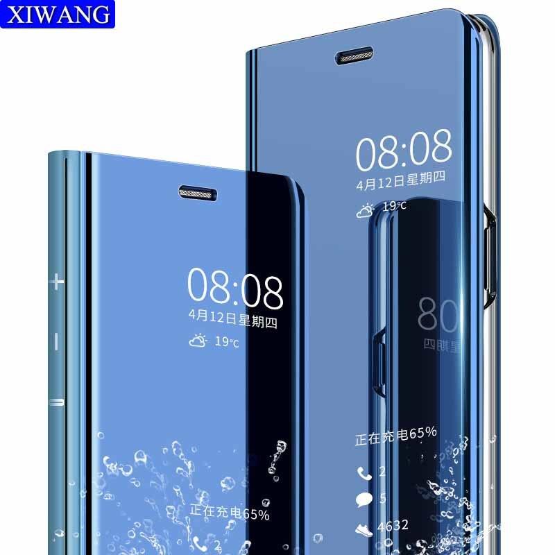 Flip Leder telefon Abdeckung Für Huawei p20 p20pro p20lite Spiegel handy Fall loui Smartphone halter ständer zubehör tasche